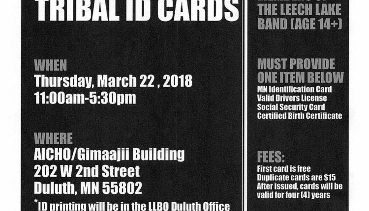 Tribal ID Flyer Duluth