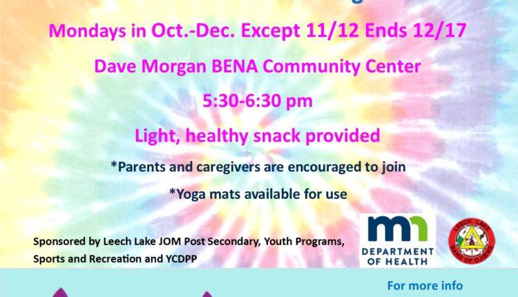 mondays in Oct-Dec. yoga